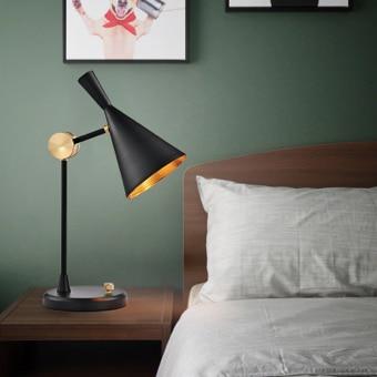 Lampe de chevet noire